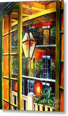View From A French Quarter Balcony Metal Print by Diane Millsap