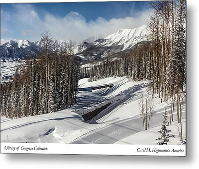 View From A Mountain Above Telluride In Colorado Metal Print by Carol M Highsmith