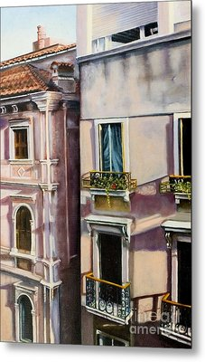 View From A Venetian Window Metal Print by Marlene Book