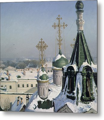 View From A Window Of The Moscow School Of Painting Metal Print by Sergei Ivanovich Svetoslavsky