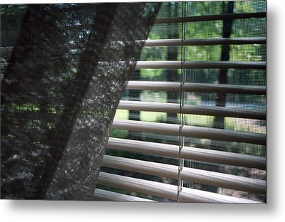 Metal Print featuring the photograph View From A Window by Wanda Brandon