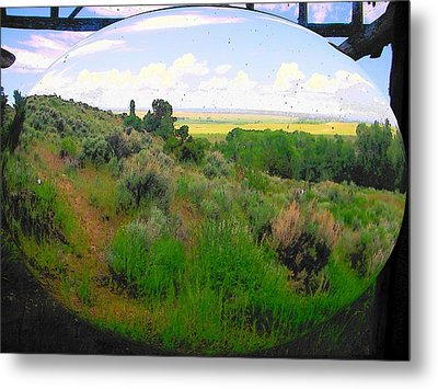 View From Cabin Window Metal Print by Lenore Senior