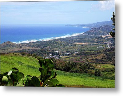 Metal Print featuring the photograph View From Cherry Hill, Barbados by Kurt Van Wagner