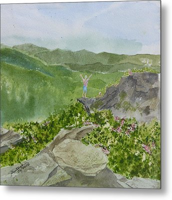 Metal Print featuring the painting View From Craggy Gardens - A Watercolor Sketch  by Joel Deutsch