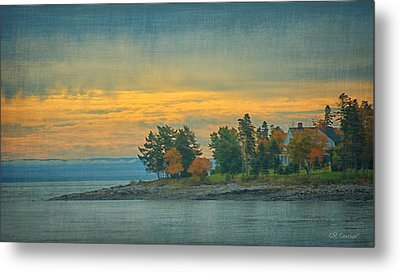 View From La Malbaie Metal Print by CR  Courson