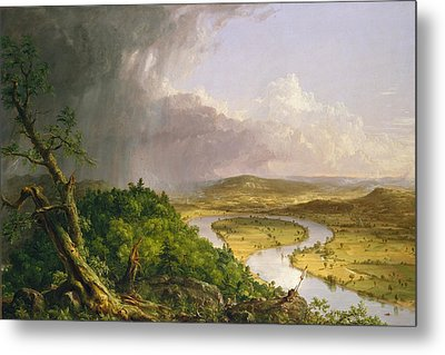 View From Mount Holyoke Northampton Massachusetts After A Thunderstorm. The Oxbow Metal Print by Thomas Cole