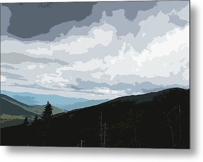 View From Mount Washington II Metal Print by Suzanne Gaff