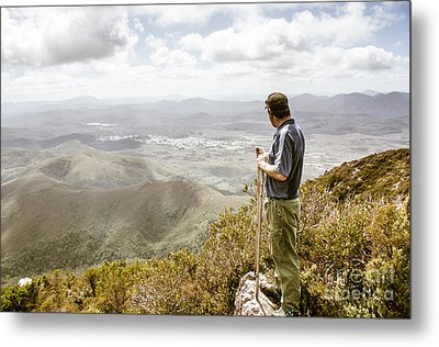 View From Mt Zeehan Tasmania Metal Print by Jorgo Photography - Wall Art Gallery