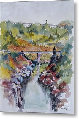 View From No Hands Bridge Metal Print by William Reed