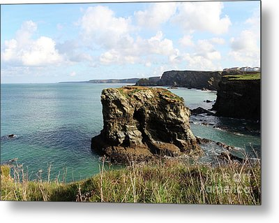 Metal Print featuring the photograph View From Porth Peninsula by Nicholas Burningham
