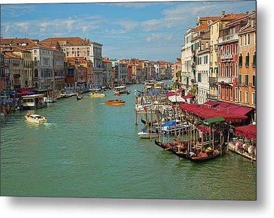 View From Rialto Bridge Metal Print