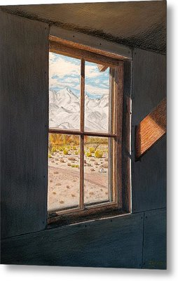 View From The Barracks Metal Print by Joy Lavery