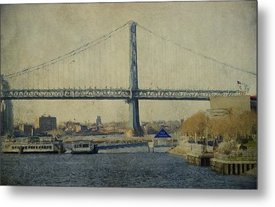 View From The Battleship Metal Print by Trish Tritz