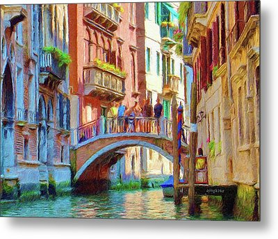 View From The Canal Metal Print by Jeff Kolker