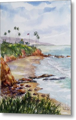 View From The Cliff Metal Print by William Reed