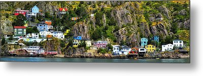 View From The Harbor St Johns Newfoundland Canada Metal Print by Steve Hurt