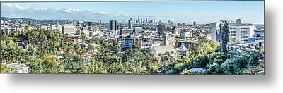 Metal Print featuring the photograph View From The Hollywood Hills by Ike Krieger