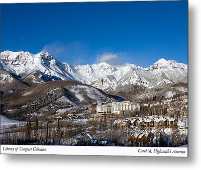 View From The Mountain Above Telluride Metal Print by Carol M Highsmith