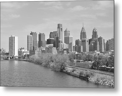 View From The New S.st. Bridge Metal Print by Brynn Ditsche