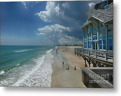View From The Pier Metal Print by Judy Hall-Folde