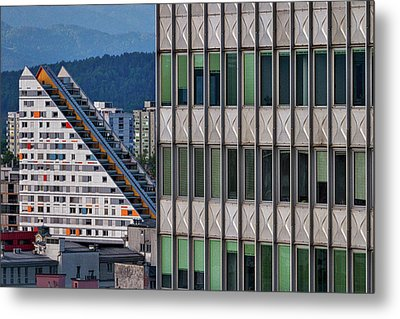 Metal Print featuring the photograph View From The Skyscraper #3 - Slovenia by Stuart Litoff