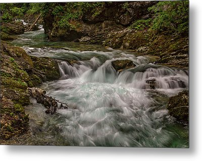 Metal Print featuring the photograph View In Vintgar Gorge #2 - Slovenia by Stuart Litoff