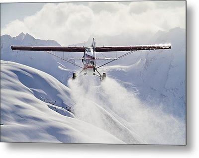 View Of A Super Cub Air Taxi At Tanaina Metal Print