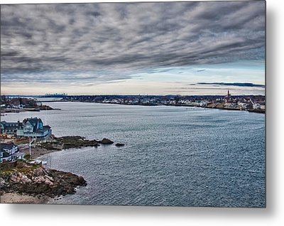View Of Abbot Hall From Marblehead Lighthouse Metal Print by Jeff Folger