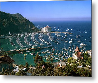View Of Avalon Harbor Metal Print by Cliff Wassmann