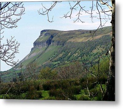 View Of Benbulben From Glencar Lake Ireland Metal Print