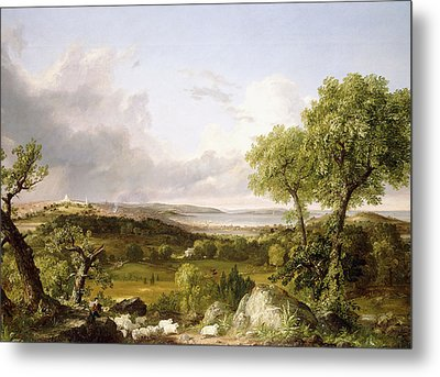 View Of Boston Metal Print by Thomas Cole