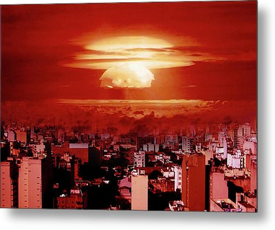 View Of Buenos Aires Metal Print by Celta4