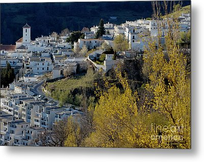 View Of Capileira Village In The Alpujarras Mountains In Andalusia Metal Print