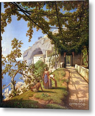 View Of Capri Metal Print by Theodore Aligny