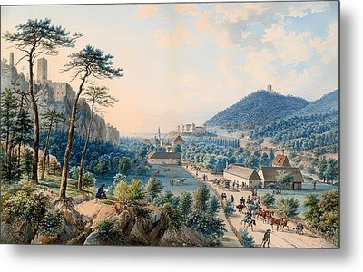 View Of Castle Weilburg - Lower Austria Metal Print by Mountain Dreams