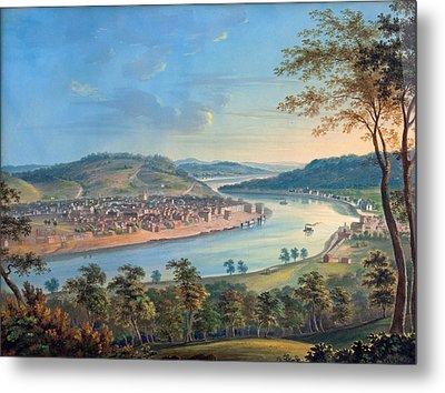 View Of Cincinnati From Covington Metal Print by John Caspar Wild