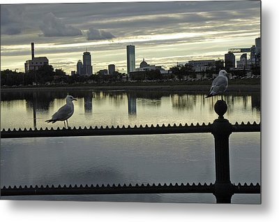 View Of City Of Boston From Castle Island Metal Print