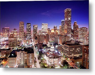 View Of Cityscape Metal Print