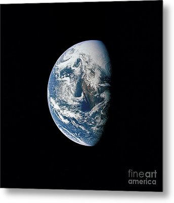 View Of Earth Taken From The Apollo 13 Metal Print by Stocktrek Images