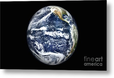 View Of Full Earth Centered Metal Print