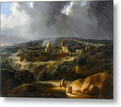 View Of Jerusalem From The Valley Of Josaphat Metal Print