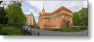 View Of Krakow Barbican, Krakow, Poland Metal Print by Panoramic Images