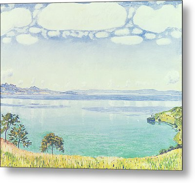 View Of Lake Leman From Chexbres Metal Print