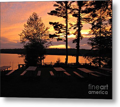 View Of Lake Naomi Metal Print by Addie Hocynec