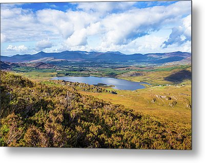View Of Lough Acoose In Ballycullane From The Foothill Of Macgil Metal Print by Semmick Photo