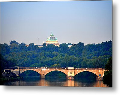 View Of Memorial Hall From The Schuylkill River Metal Print by Bill Cannon
