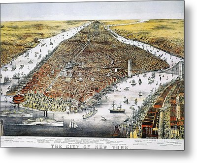 View Of New York, 1876 Metal Print by Granger