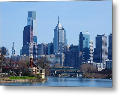 View Of Phliadelphia From West River Drive. Metal Print by Bill Cannon