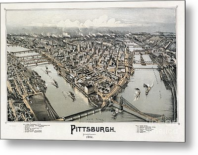 View Of Pittsburgh, 1902 Metal Print by Granger