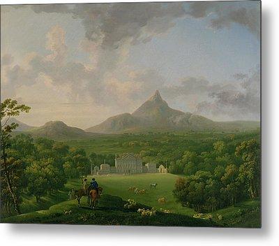 View Of Powerscourt - County Wicklow Metal Print by George the Elder Barret